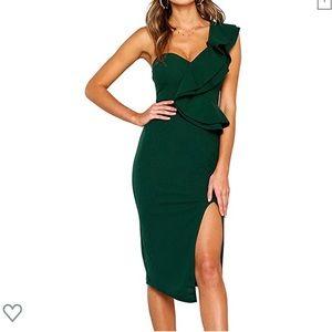 Evergreen Midi cocktail dress